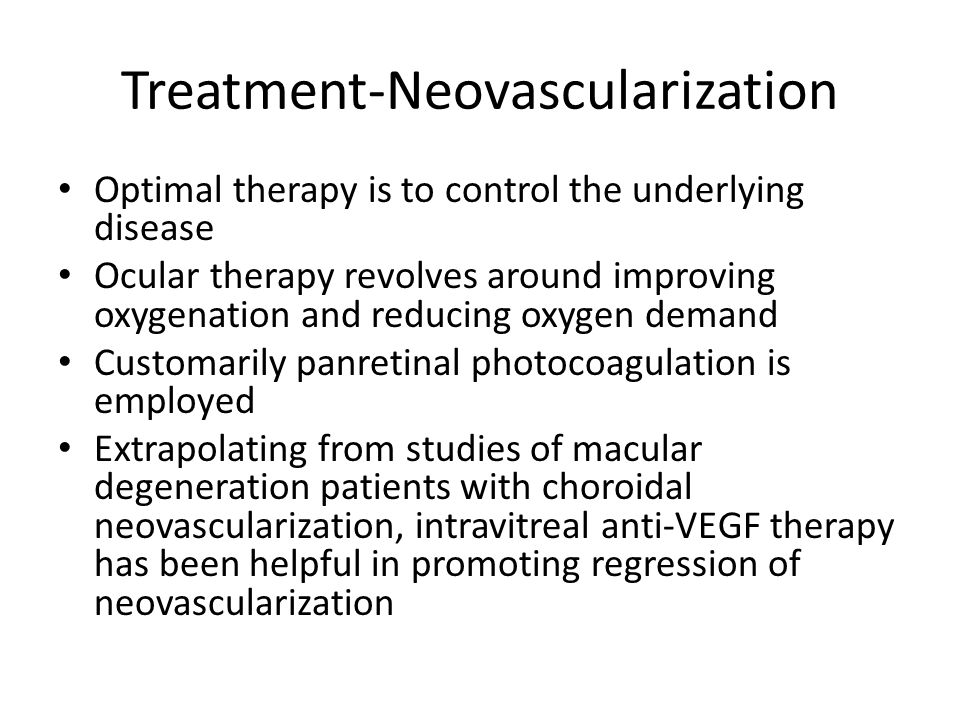 Treatment-Neovascularization