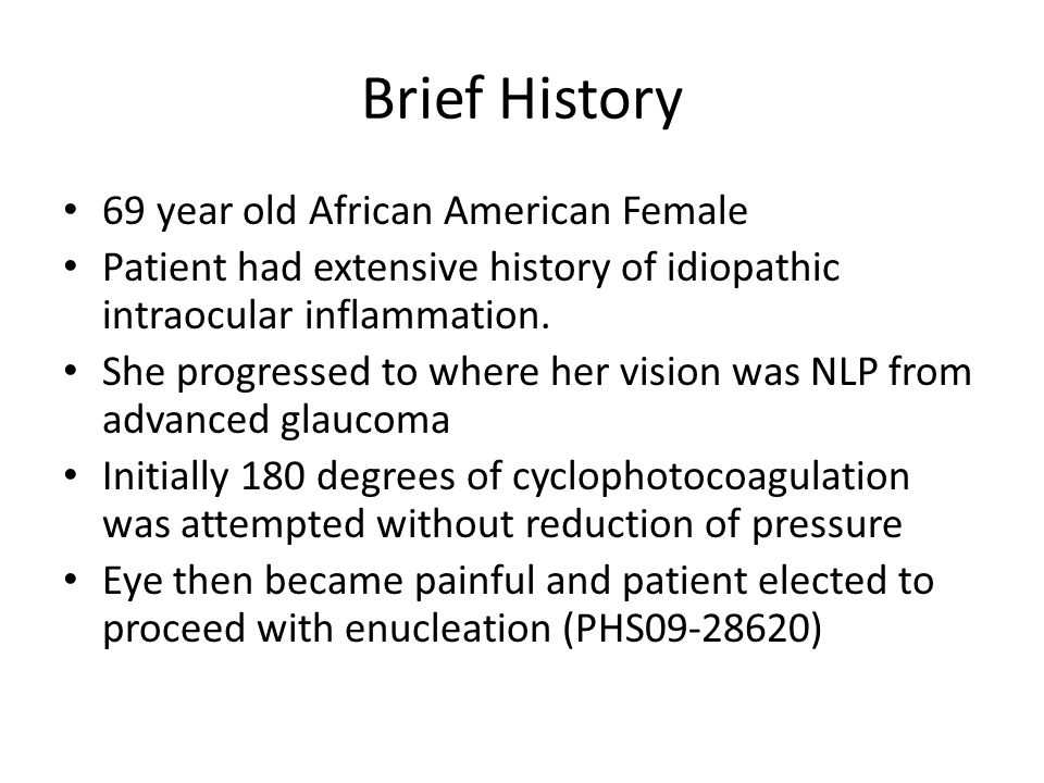 Brief History 69 year old African American Female
