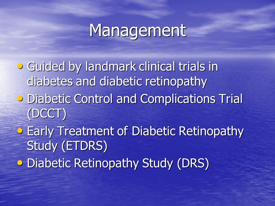 Management - Diabetic Retinopathy - Central Lakes Medical