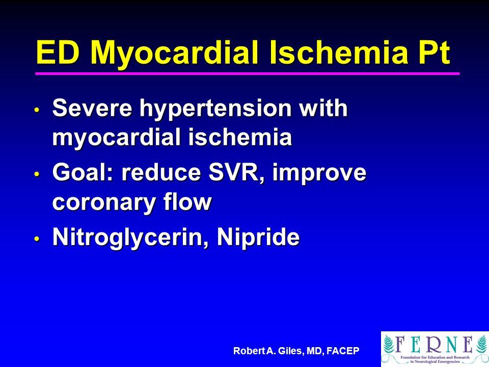 ED Myocardial Ischemia Pt