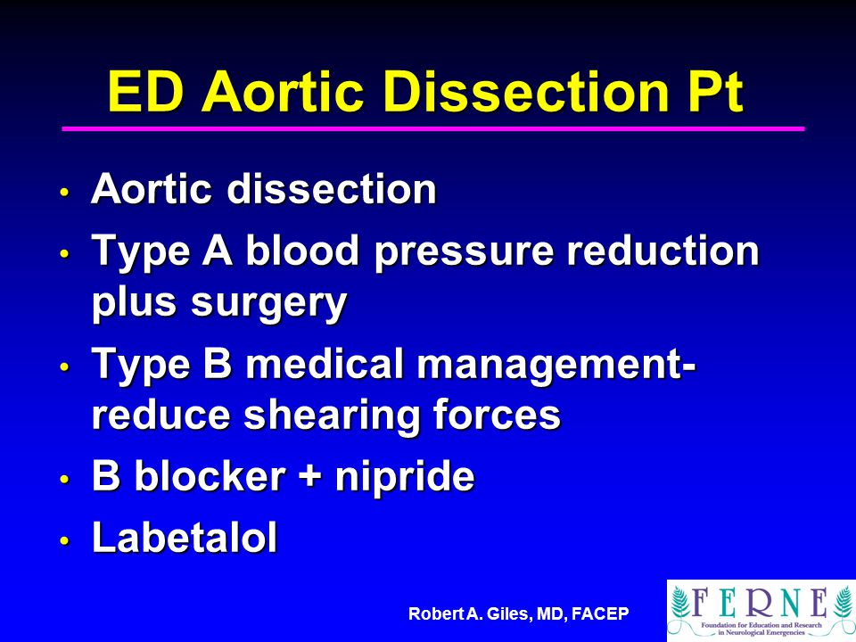 ED Aortic Dissection Pt