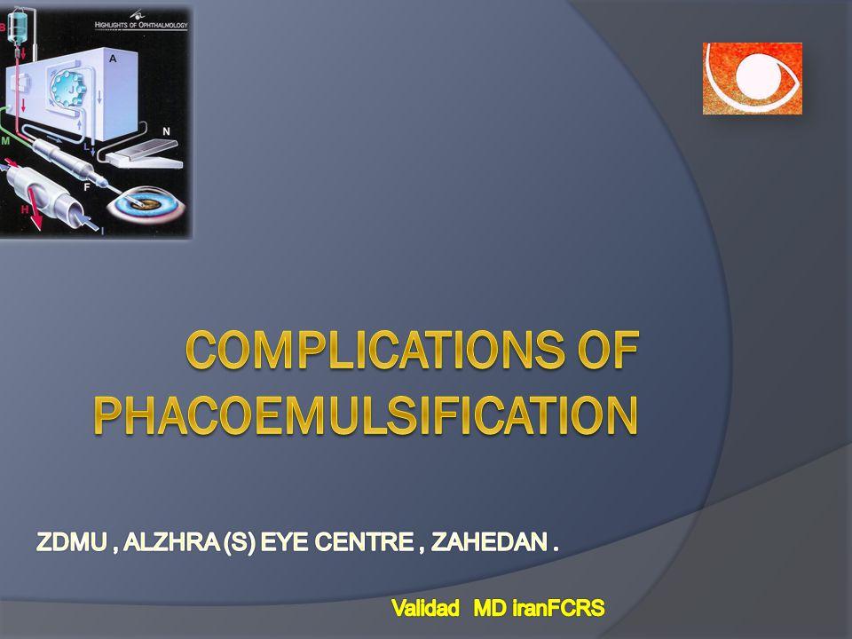 Complications of phacoemulsification