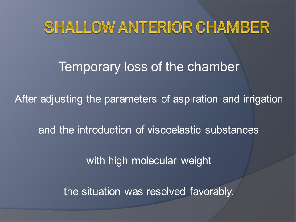 shallow anterior chamber