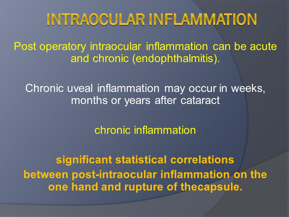 Intraocular inflammation