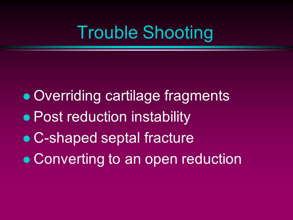 Trouble Shooting Overriding cartilage fragments