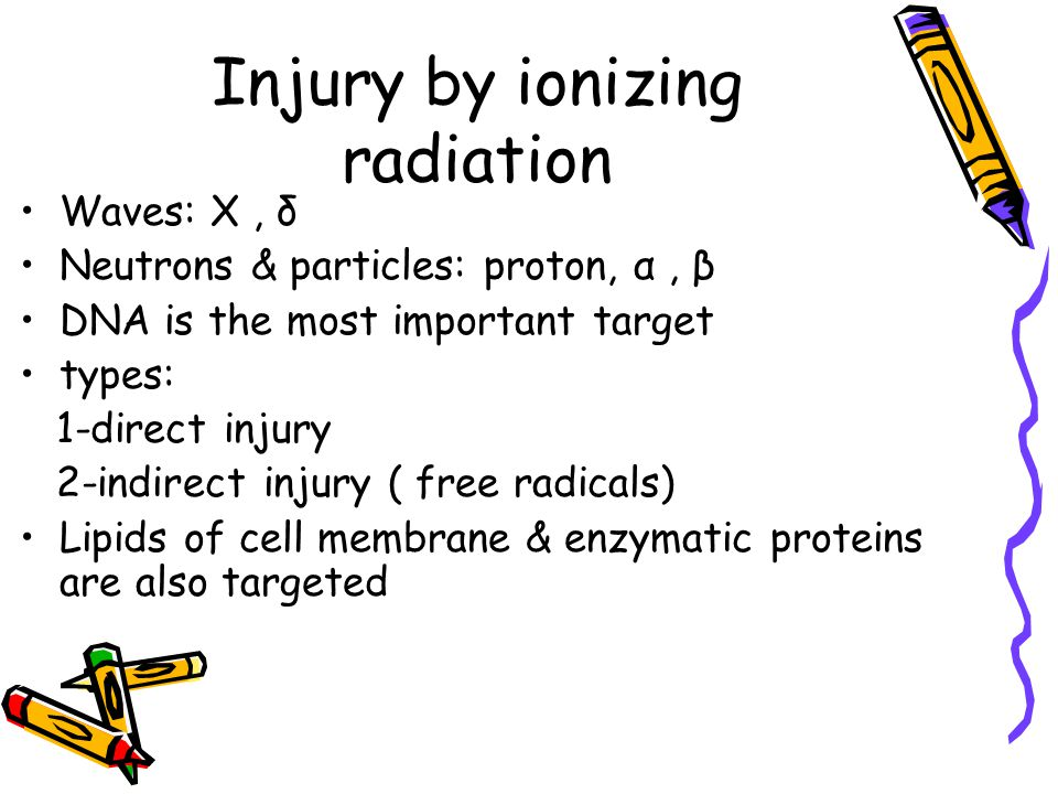 Injury by ionizing radiation