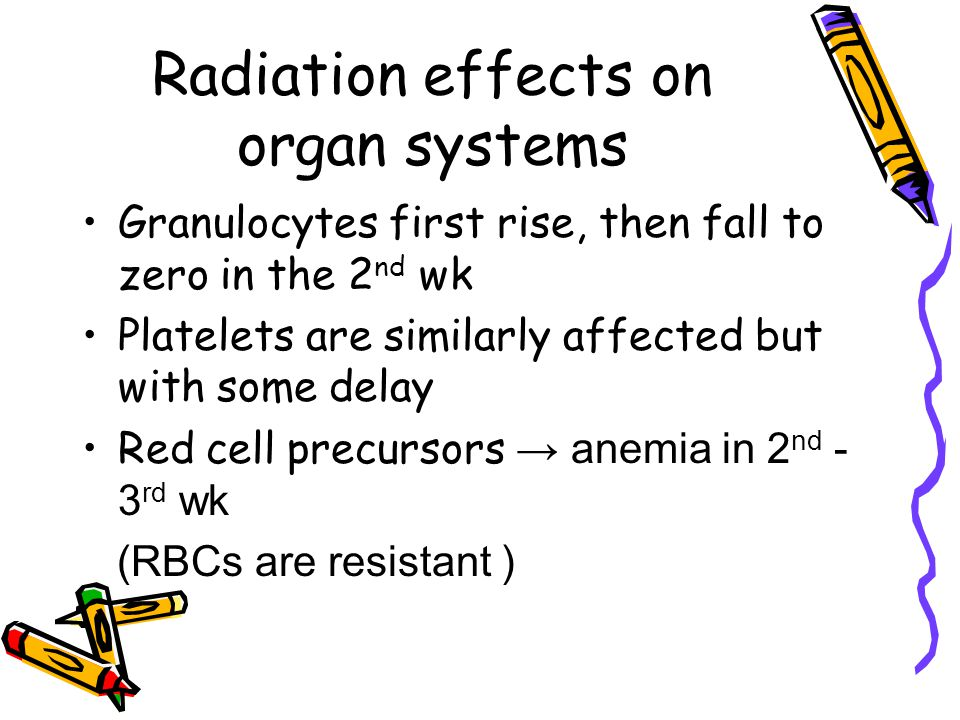 Radiation effects on organ systems