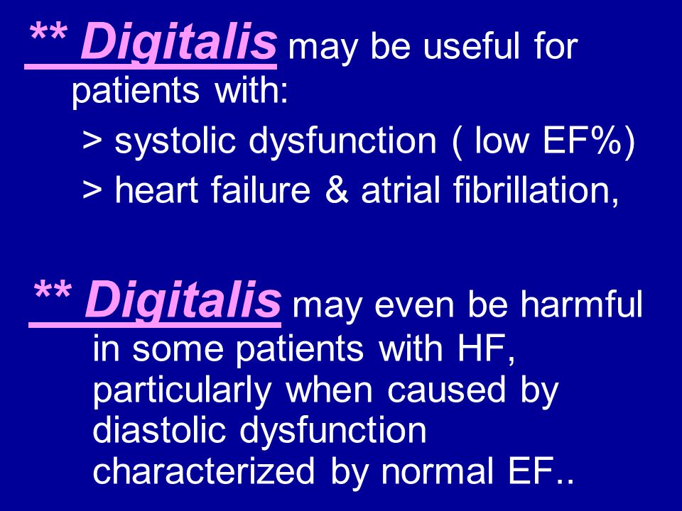 > systolic dysfunction ( low EF%)