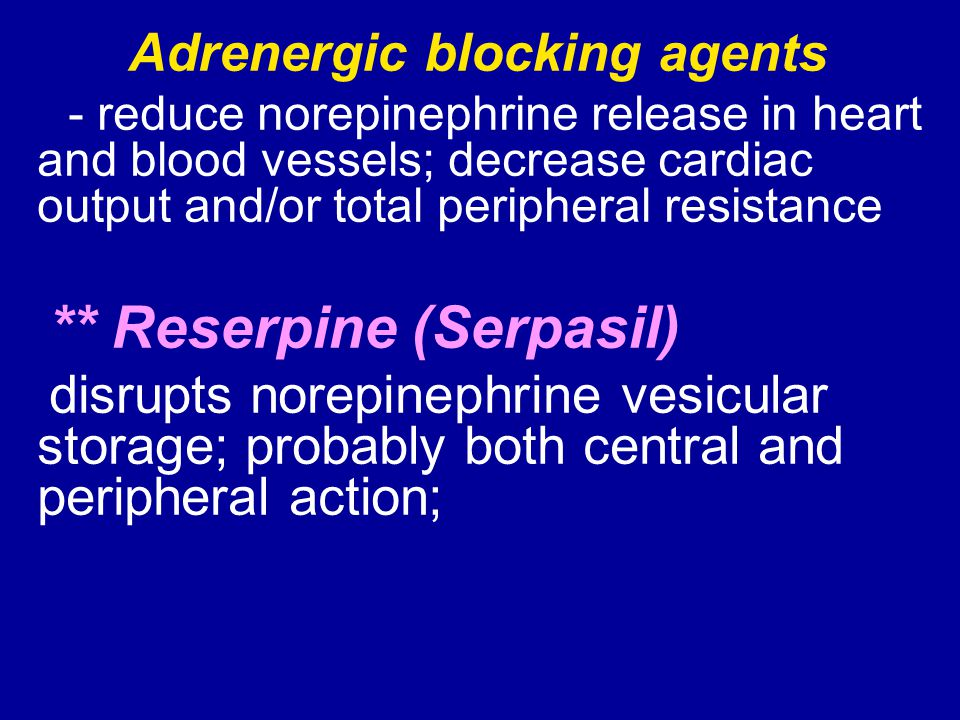 Adrenergic blocking agents