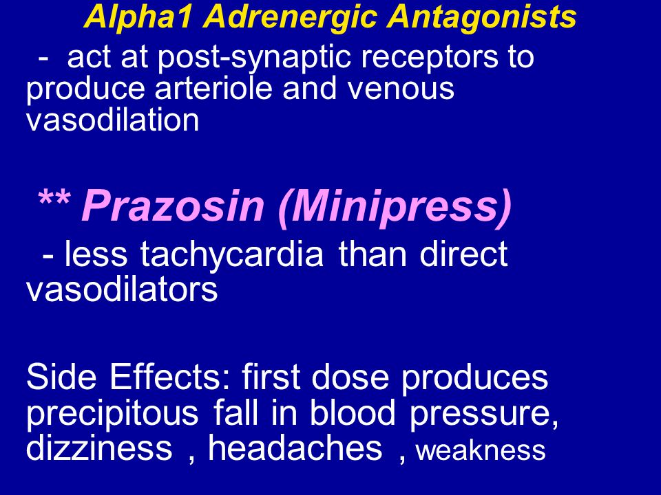 Alpha1 Adrenergic Antagonists