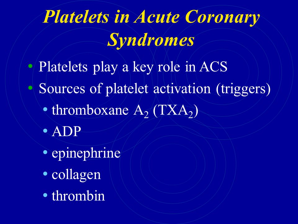 Platelets in Acute Coronary Syndromes