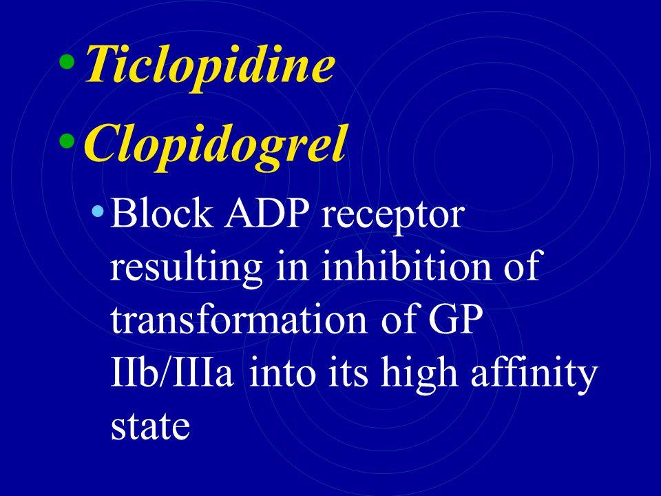 Ticlopidine Clopidogrel