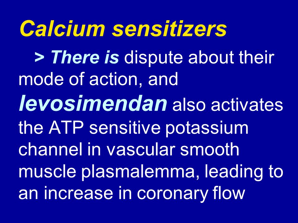 Calcium sensitizers