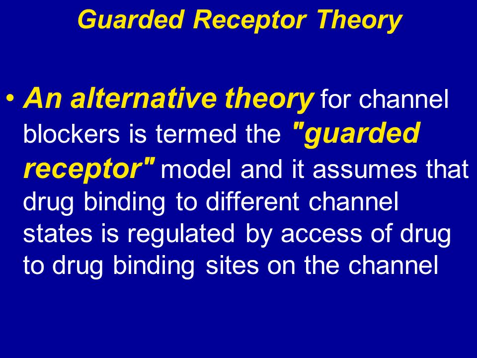 Guarded Receptor Theory