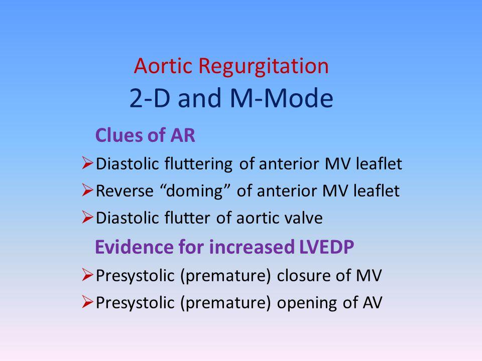 Aortic Regurgitation 2-D and M-Mode