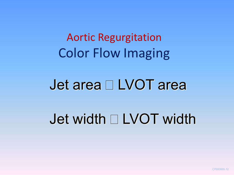 Aortic Regurgitation Color Flow Imaging