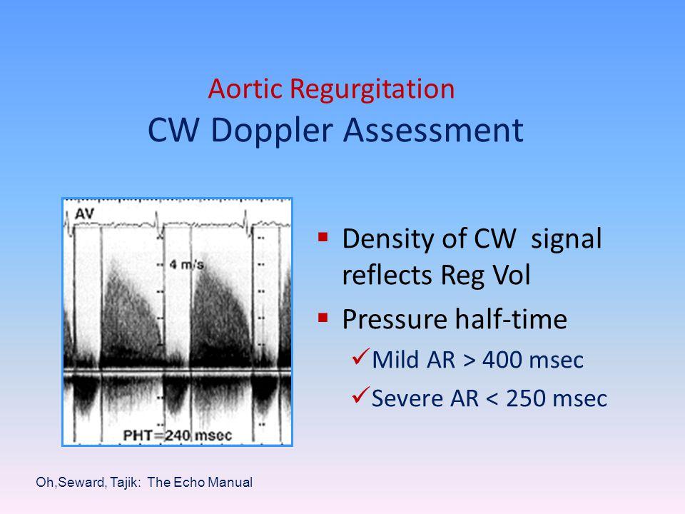 Aortic Regurgitation CW Doppler Assessment
