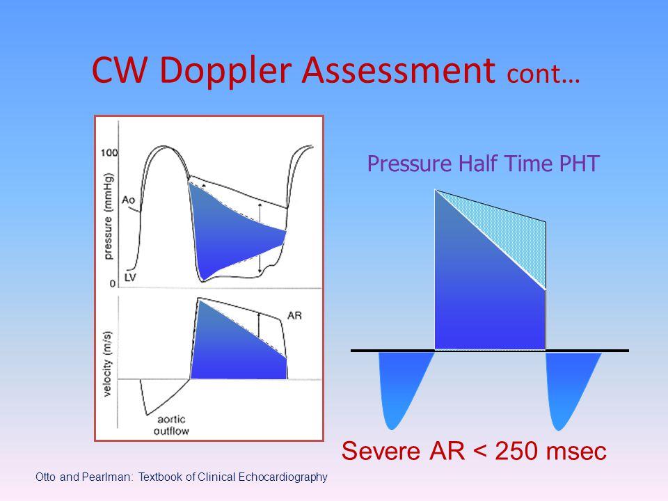 CW Doppler Assessment cont…