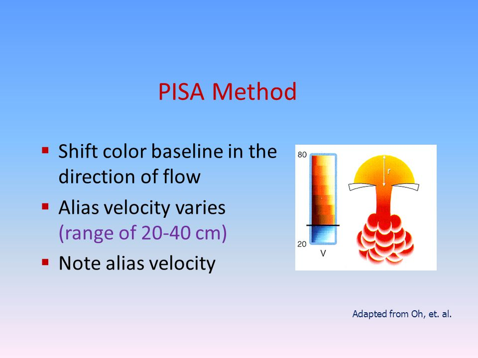 PISA Method Shift color baseline in the direction of flow