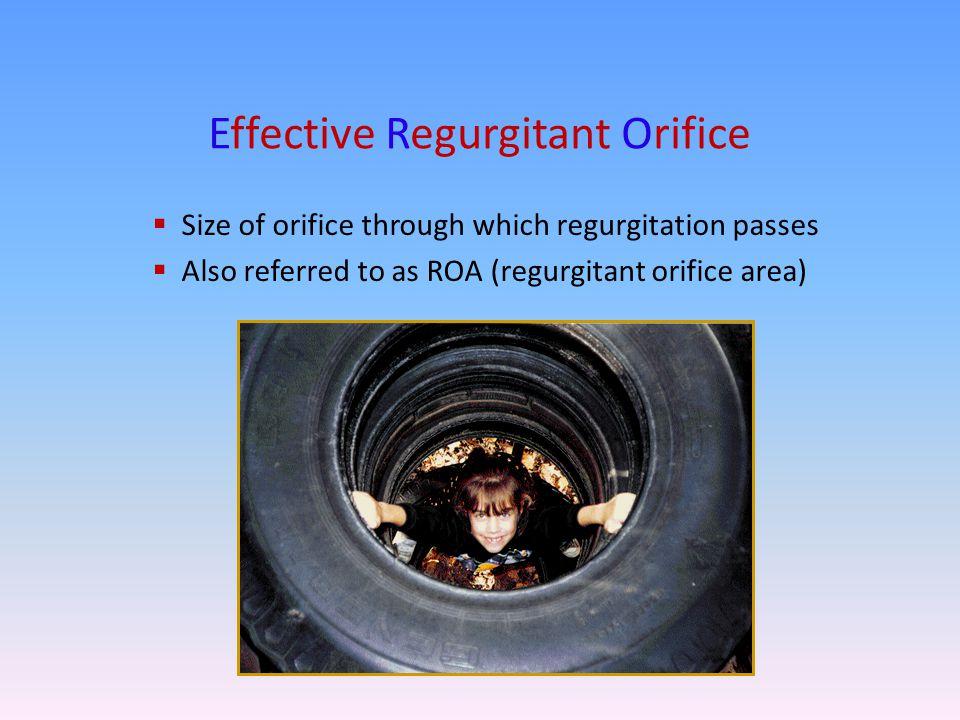 Effective Regurgitant Orifice