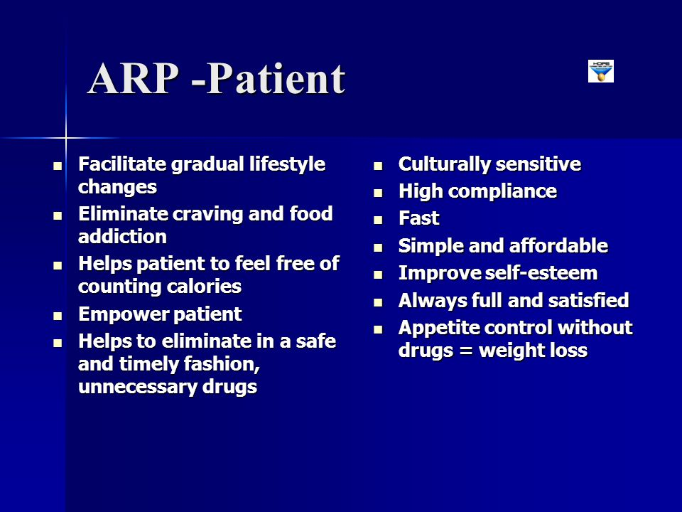 ARP -Patient Facilitate gradual lifestyle changes