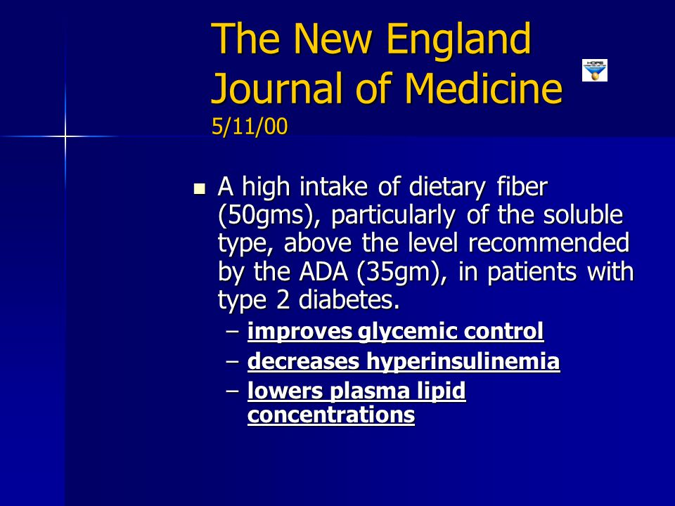 The New England Journal of Medicine 5/11/00