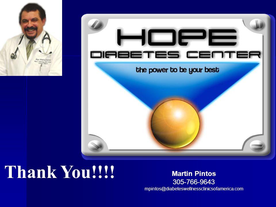 Thank You!!!! Martin Pintos 305-766-9643