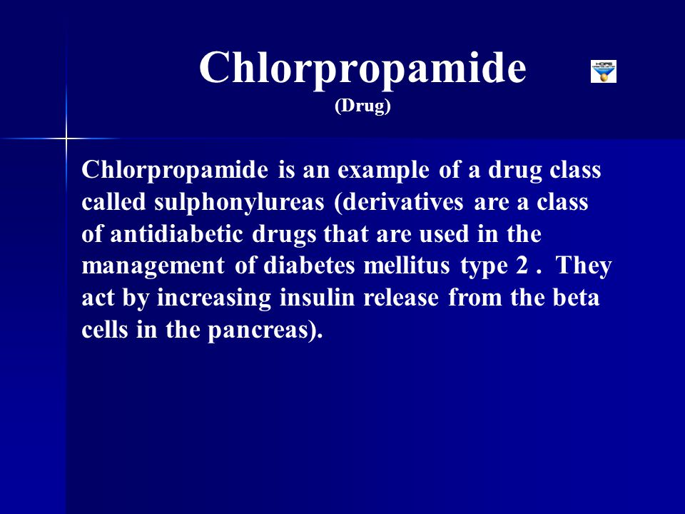Chlorpropamide (Drug)