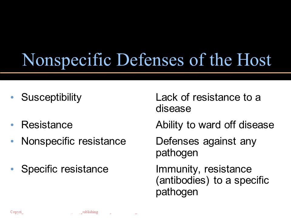 Nonspecific Defenses of the Host