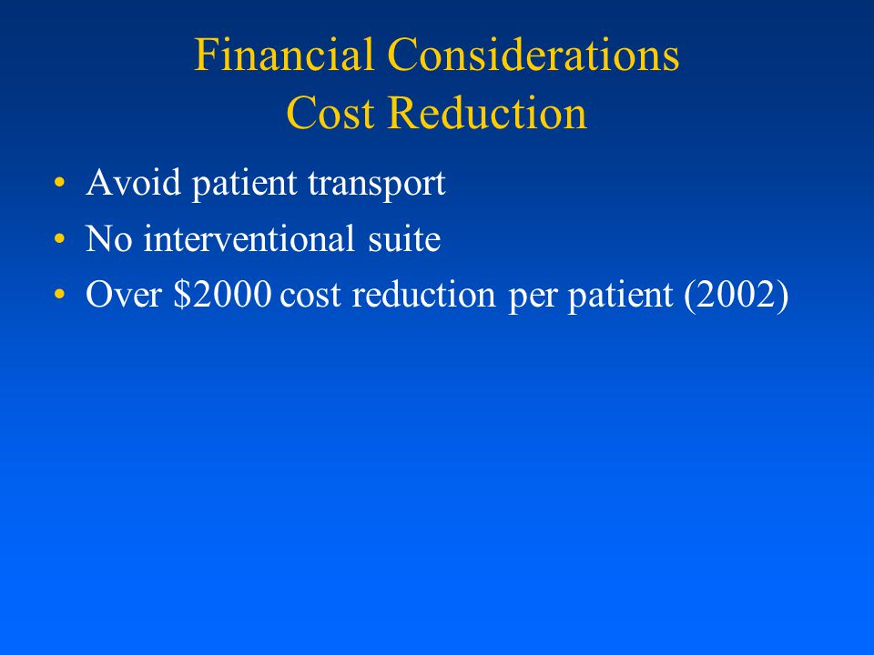 Financial Considerations Cost Reduction