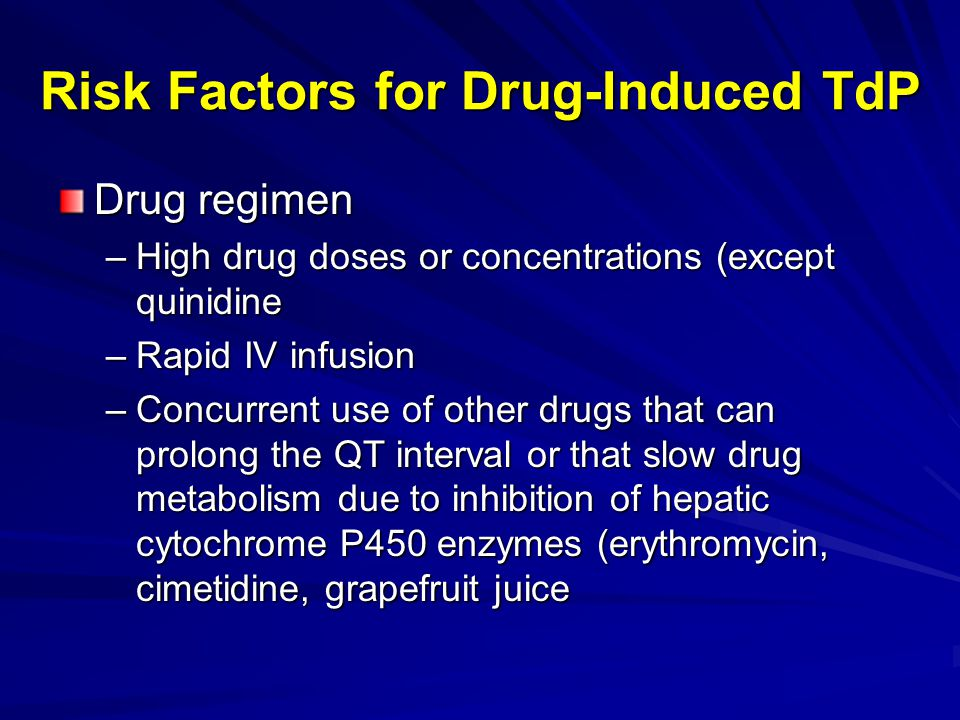 Risk Factors for Drug-Induced TdP