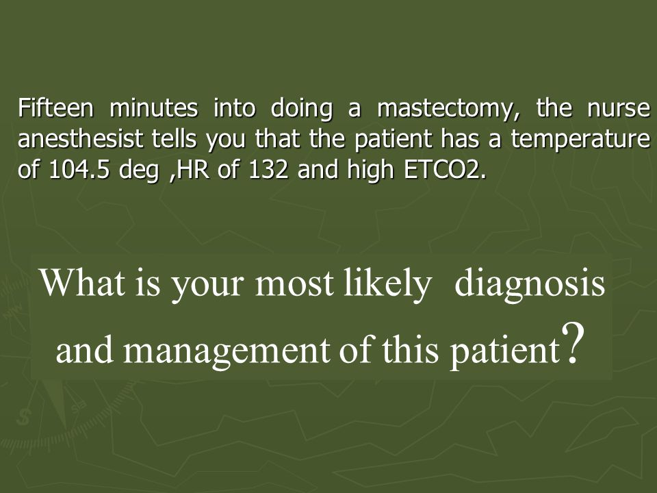 What is your most likely diagnosis and management of this patient