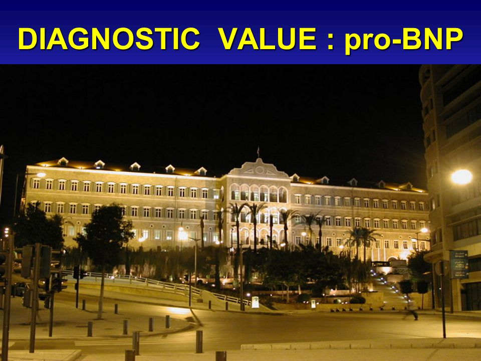 DIAGNOSTIC VALUE : pro-BNP