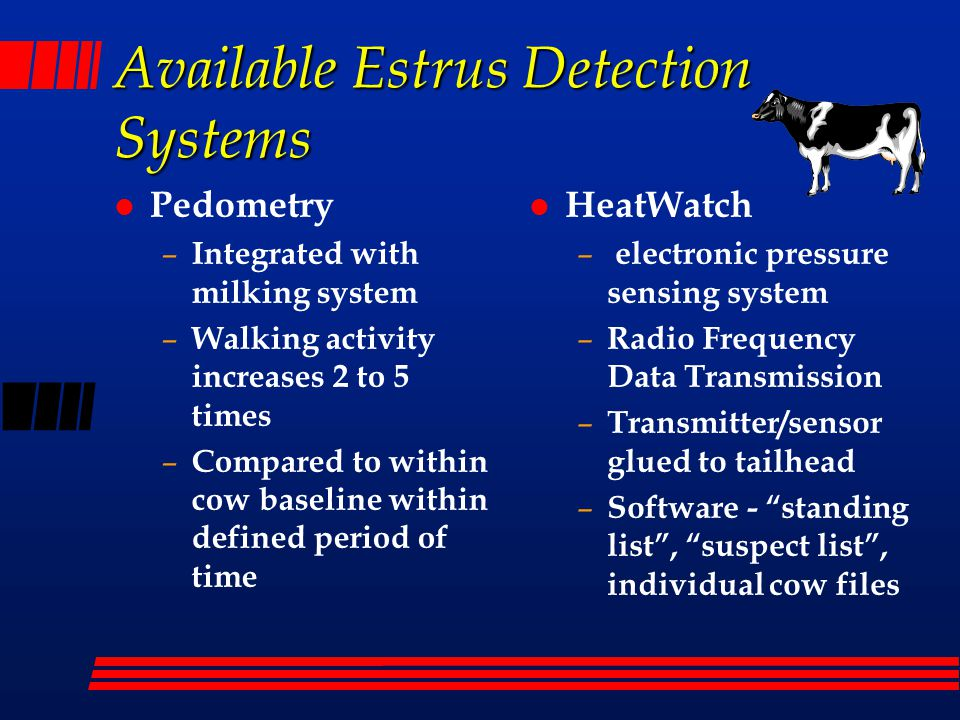 Available Estrus Detection Systems