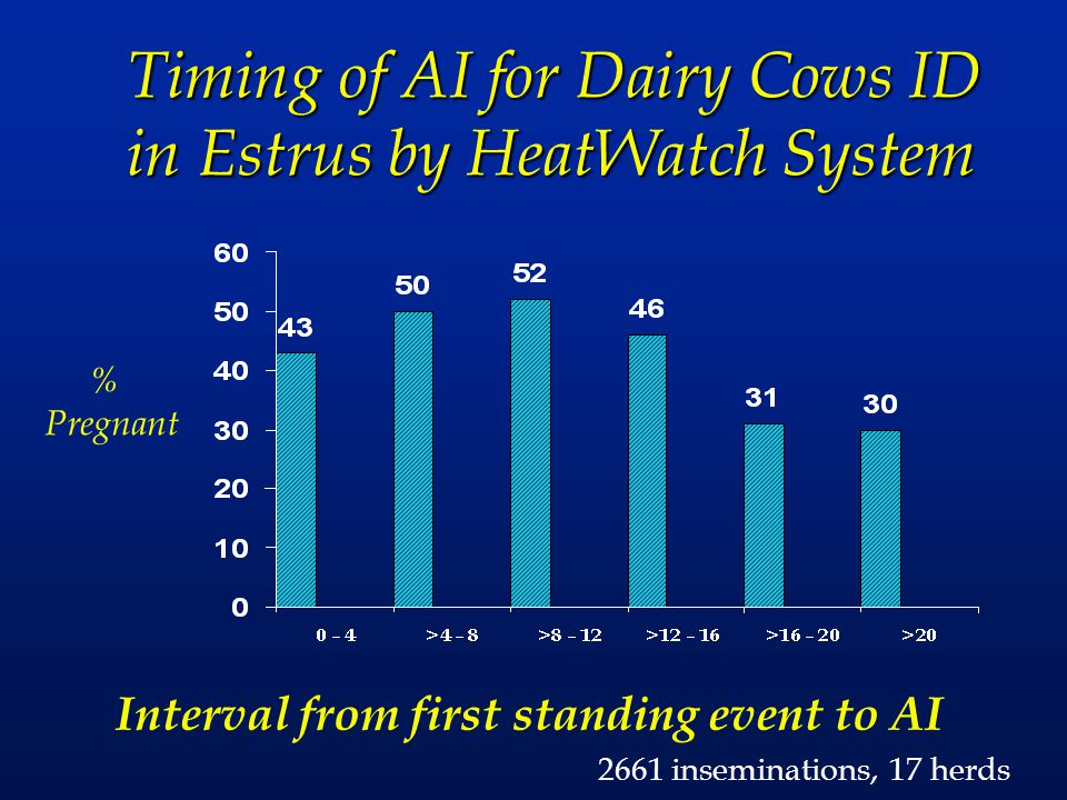 Timing of AI for Dairy Cows ID in Estrus by HeatWatch System