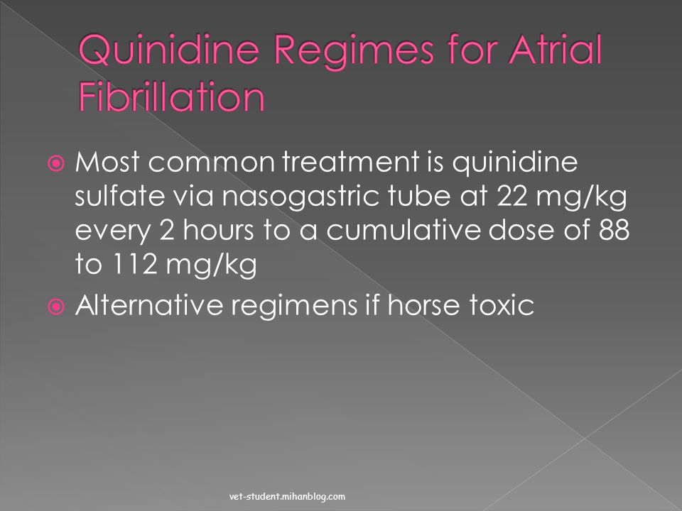 Quinidine Regimes for Atrial Fibrillation