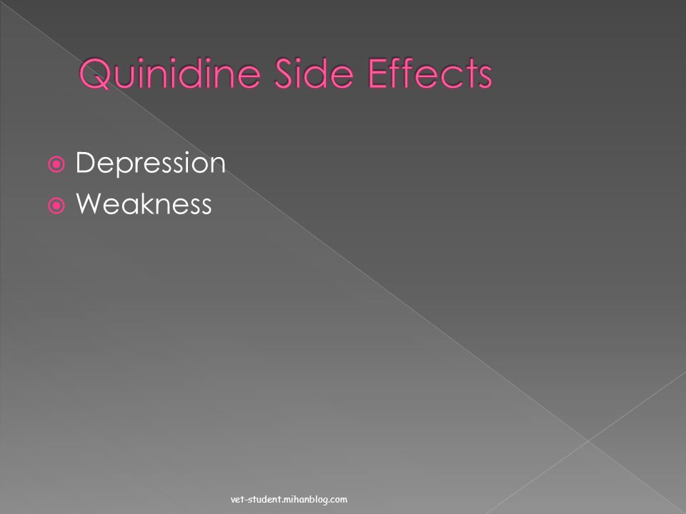 Quinidine Side Effects