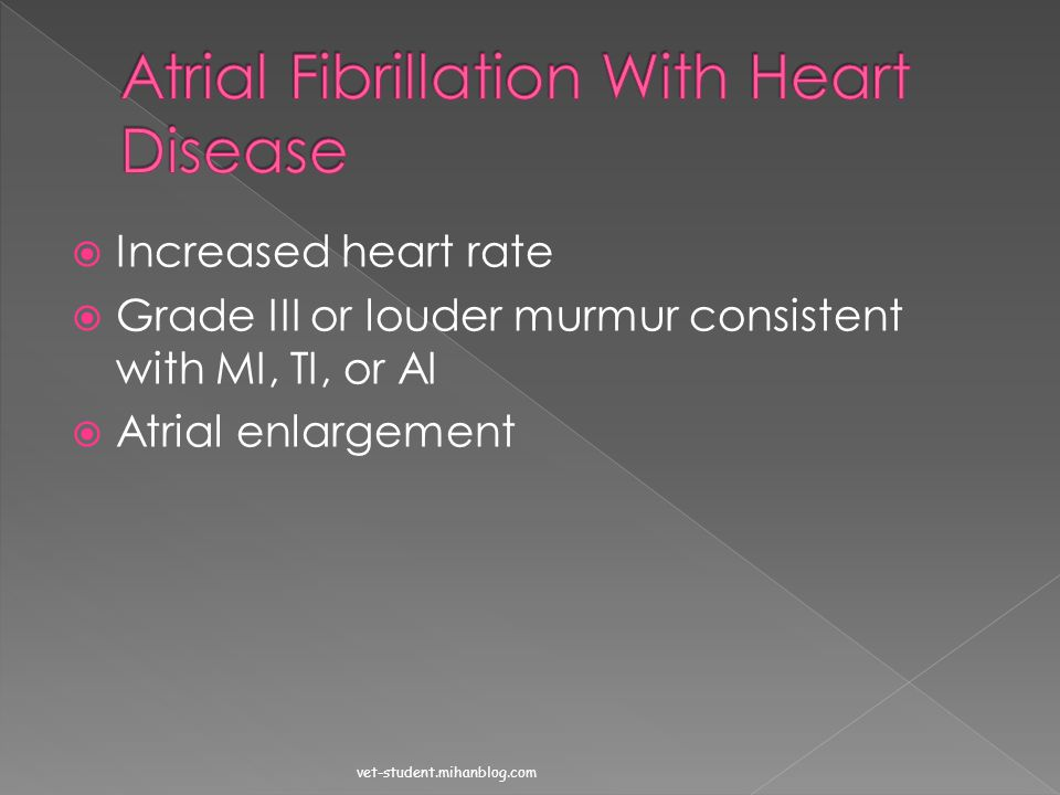 Atrial Fibrillation With Heart Disease