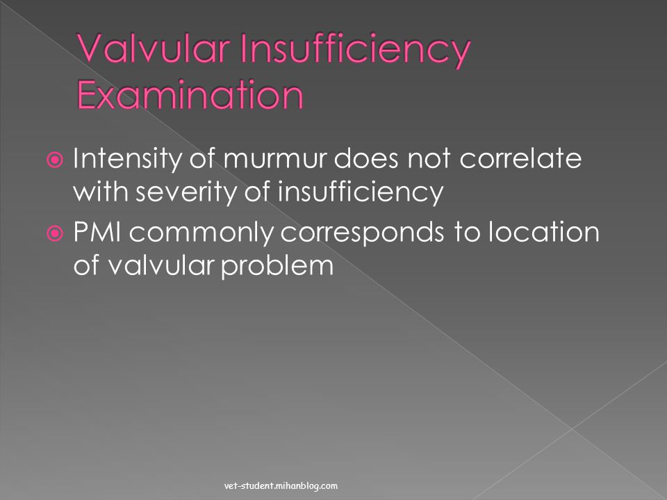 Valvular Insufficiency Examination