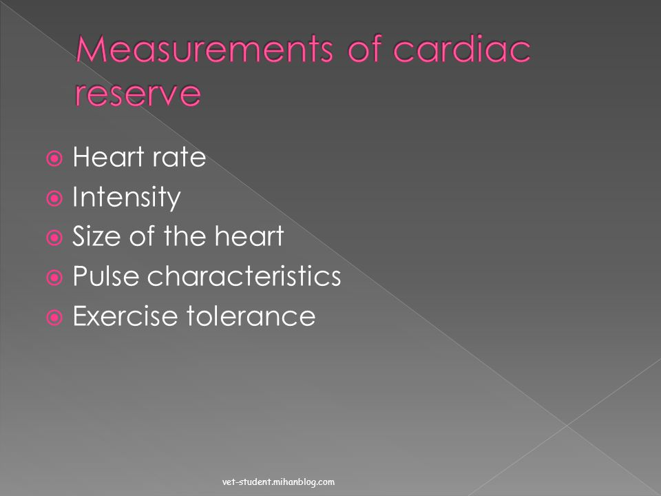 Measurements of cardiac reserve