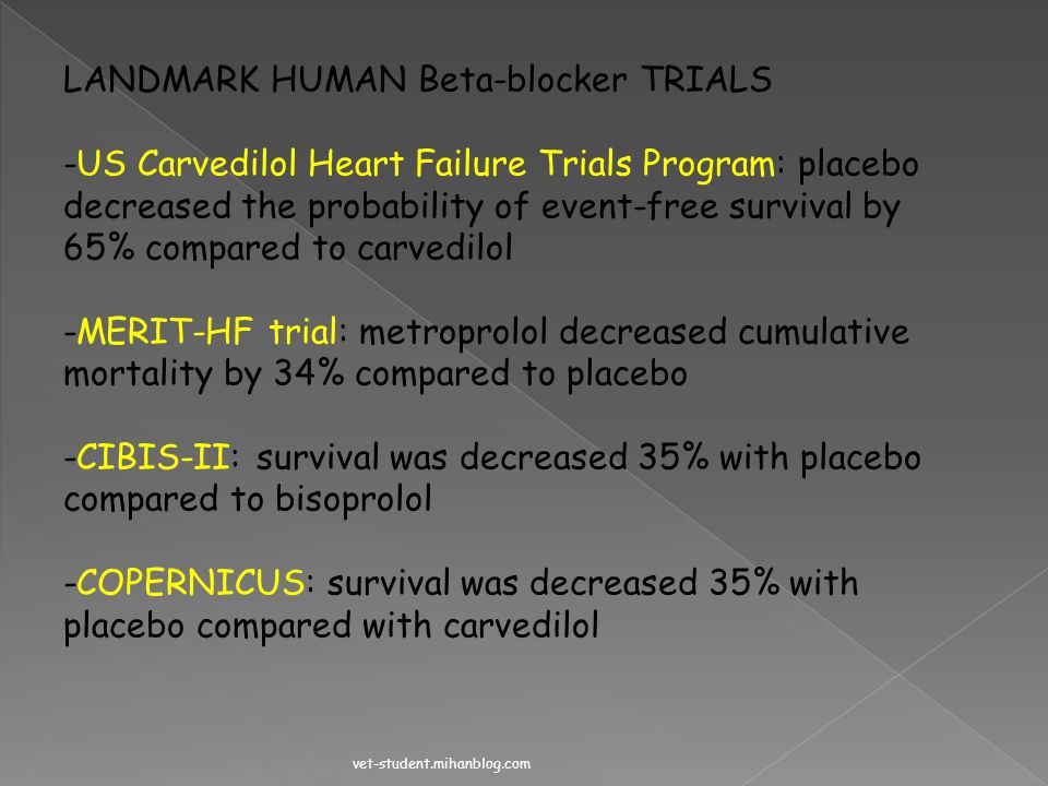 LANDMARK HUMAN Beta-blocker TRIALS