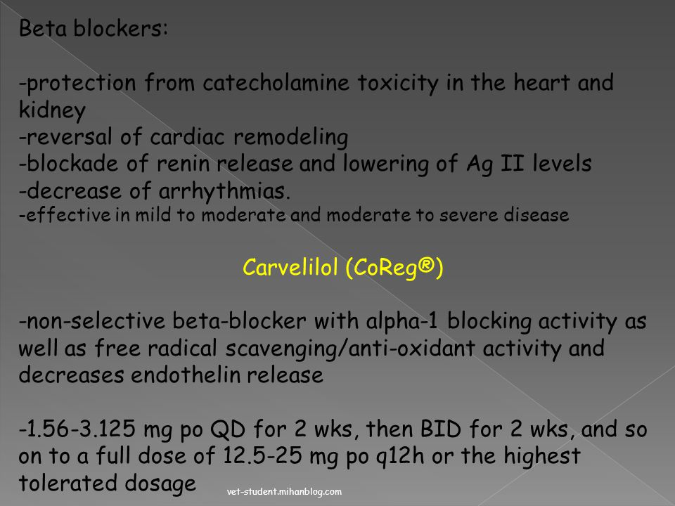 -protection from catecholamine toxicity in the heart and kidney