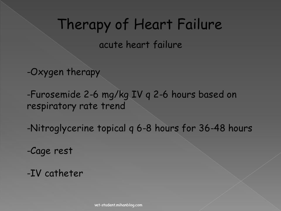 Therapy of Heart Failure