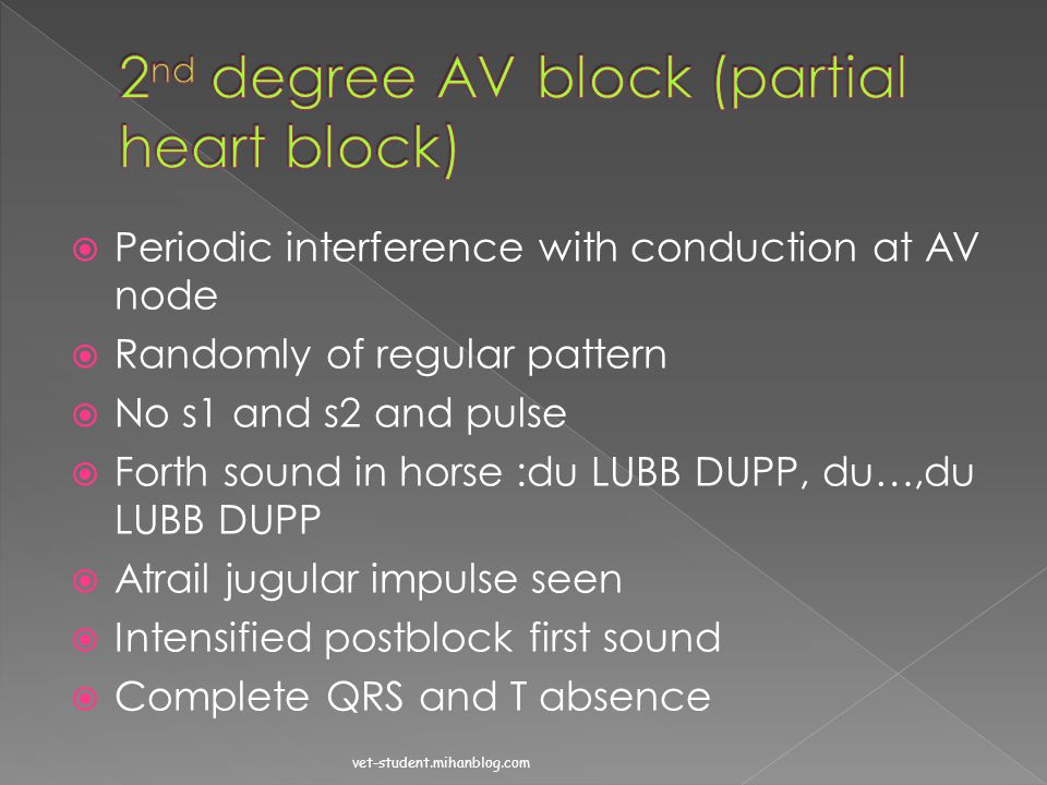 2nd degree AV block (partial heart block)