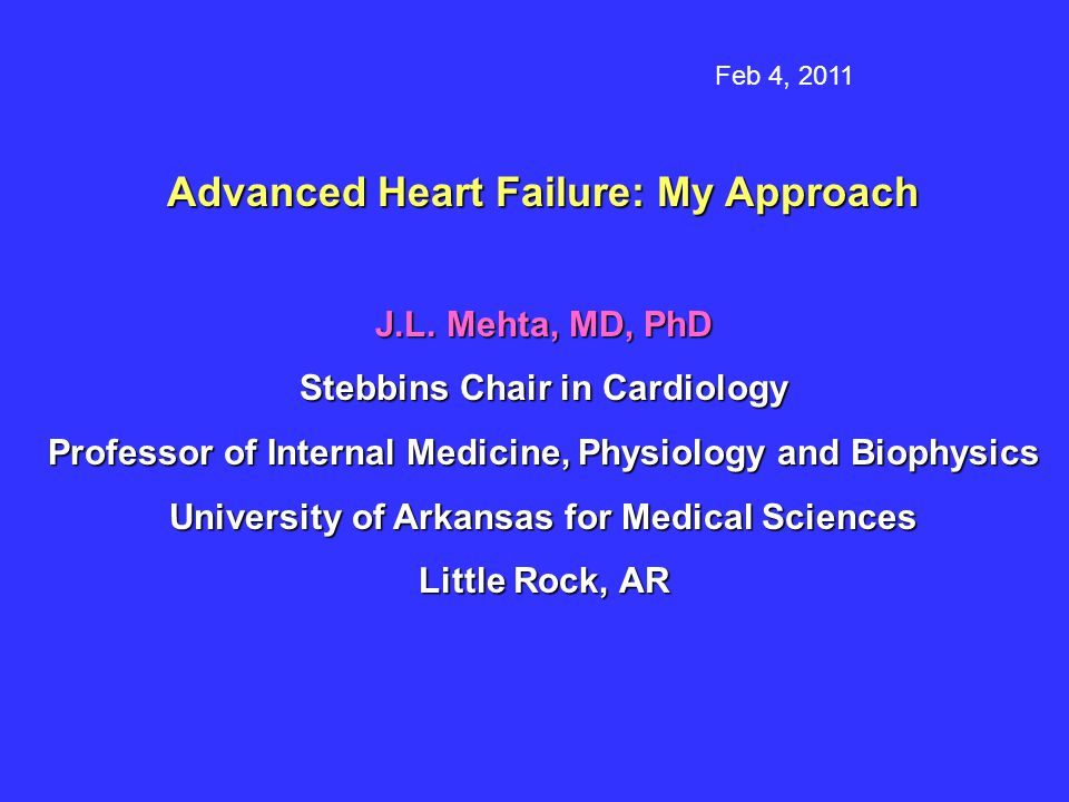 Advanced Heart Failure: My Approach