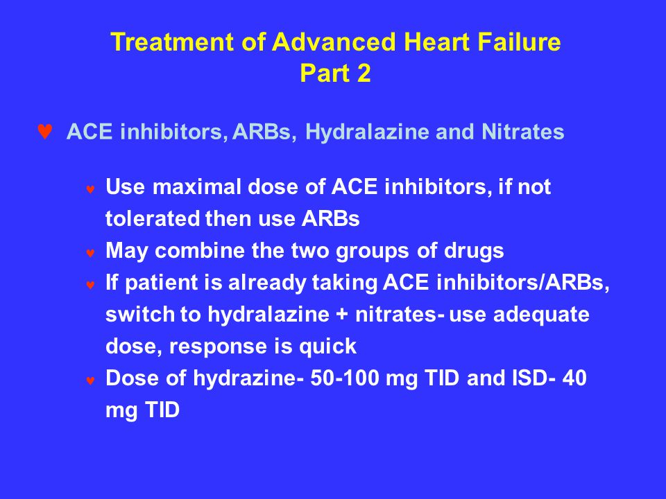 Treatment of Advanced Heart Failure Part 2