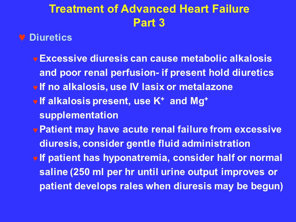 Treatment of Advanced Heart Failure Part 3