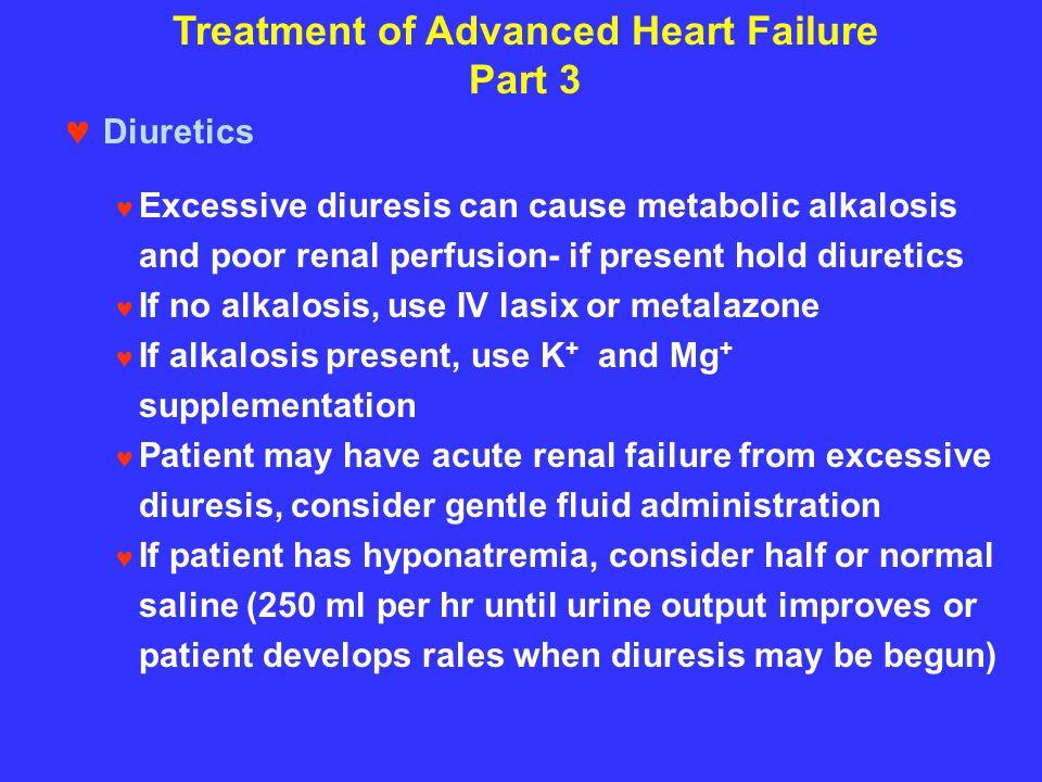 Treatment of Advanced Heart Failure Part 3