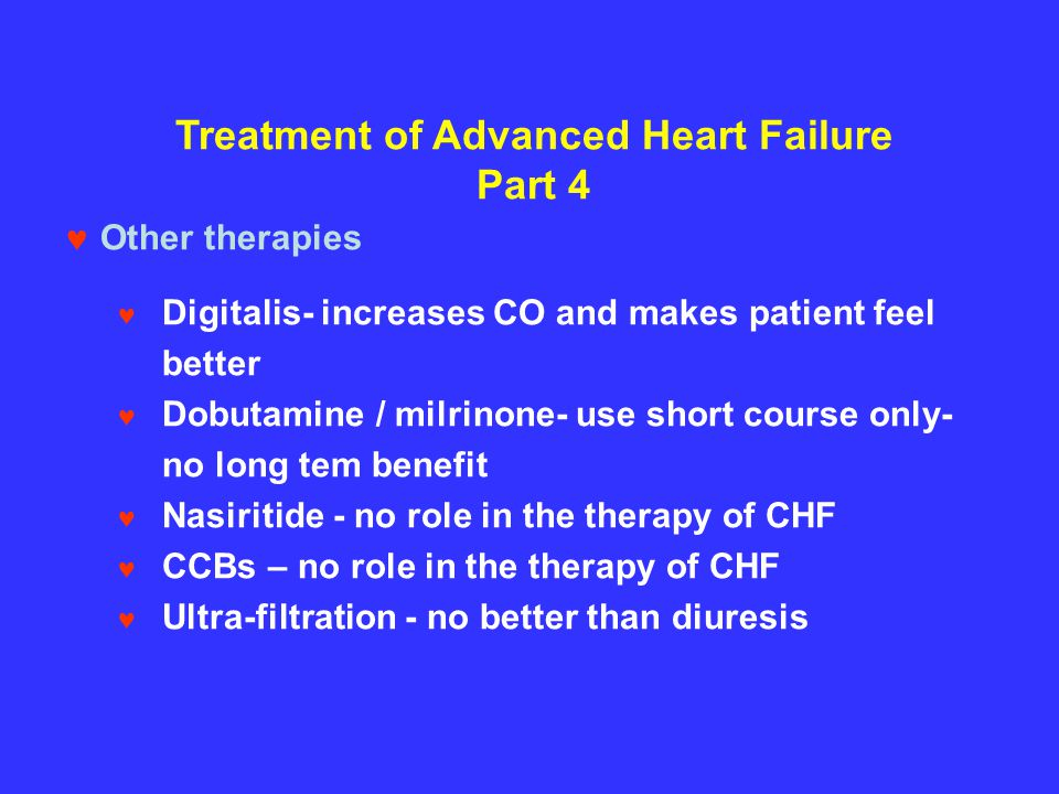 Treatment of Advanced Heart Failure Part 4