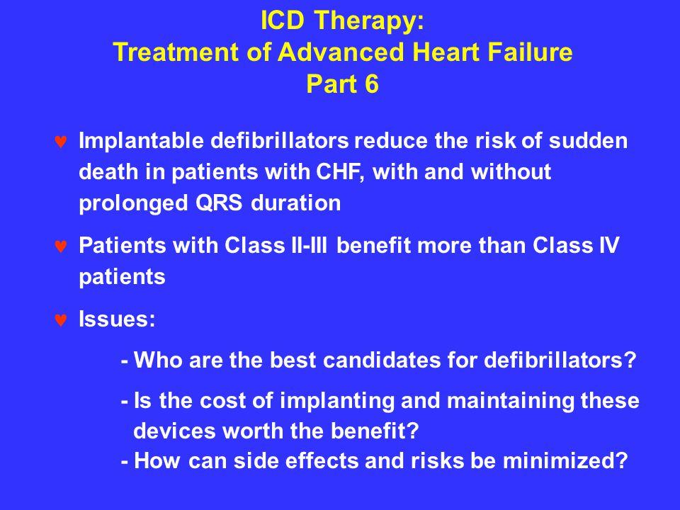 Treatment of Advanced Heart Failure Part 6